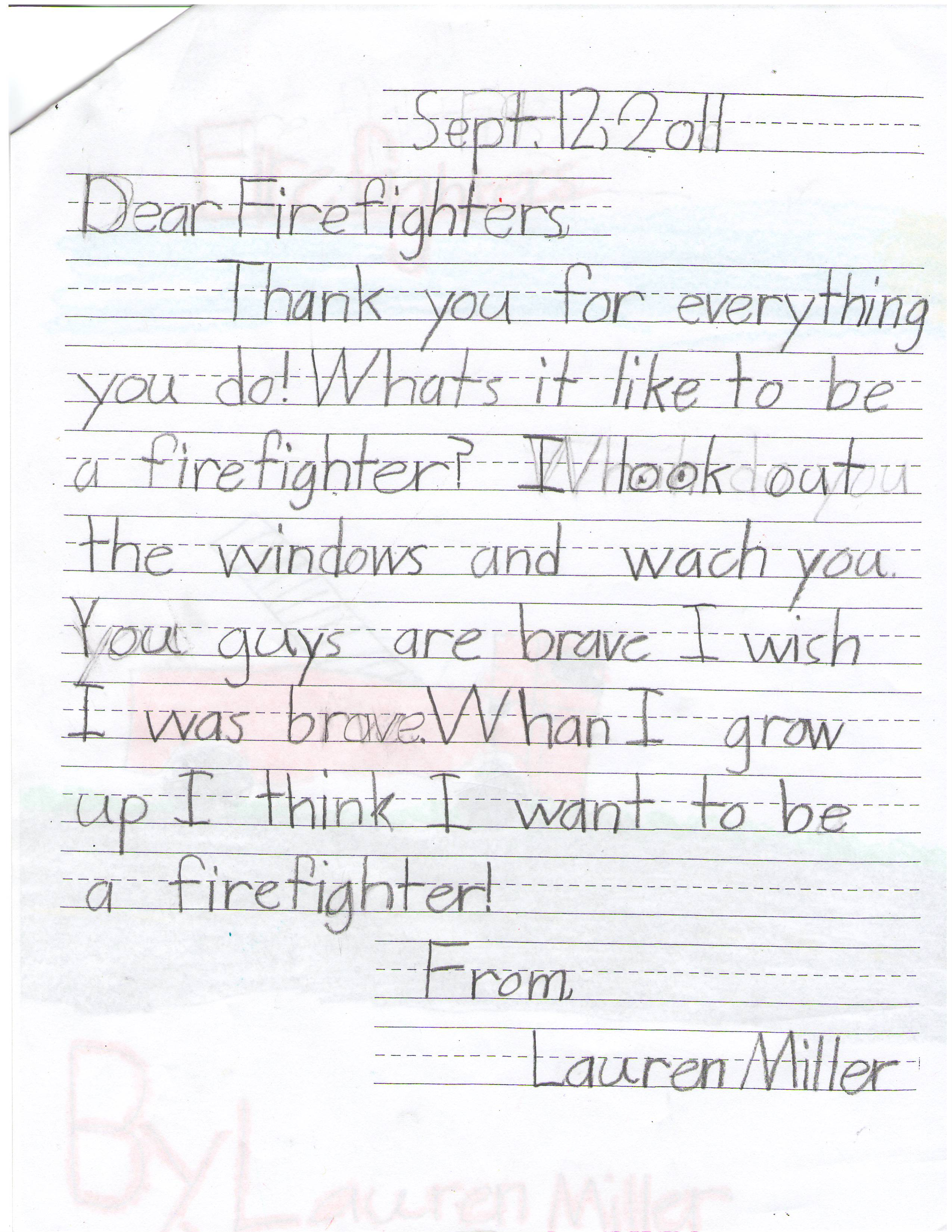 lauren firefighter letter the lucas lodge