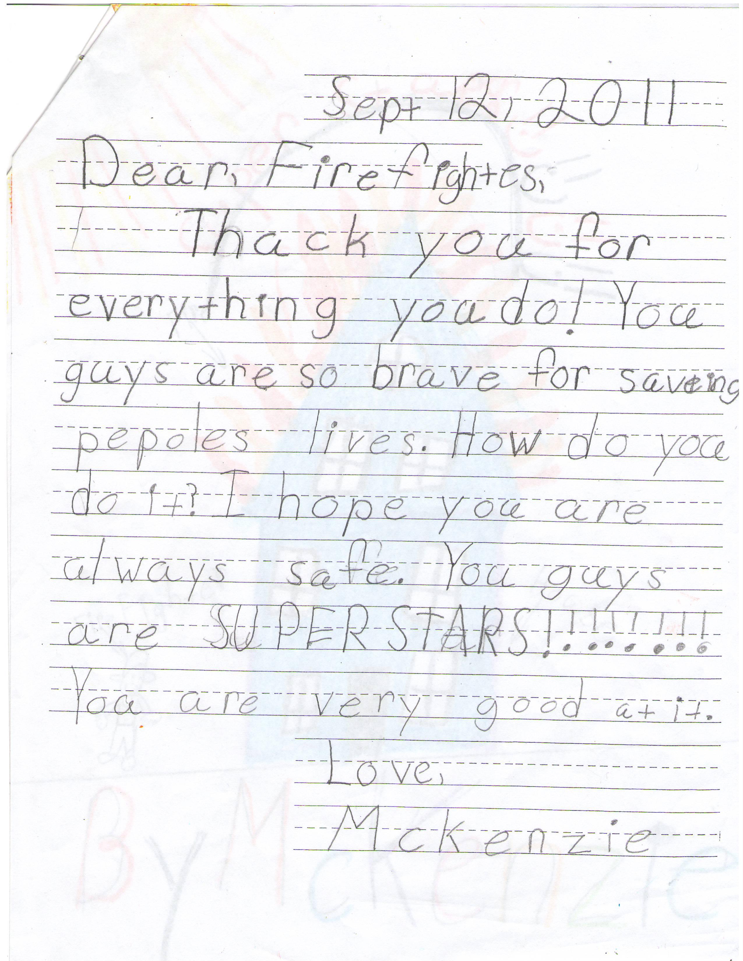 mckenzie firefighter letter the lucas lodge